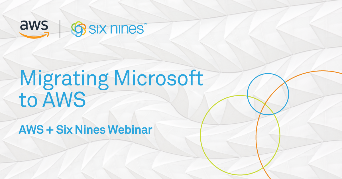 Webinar: Join us on June 28, 2018 to learn how to modernize your Microsoft apps with AWS